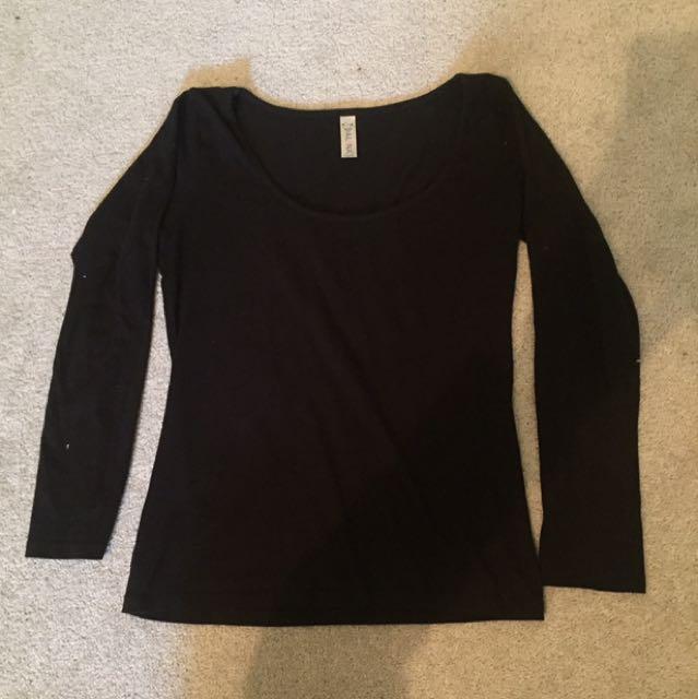 Basic Long Sleeve Black Shirt