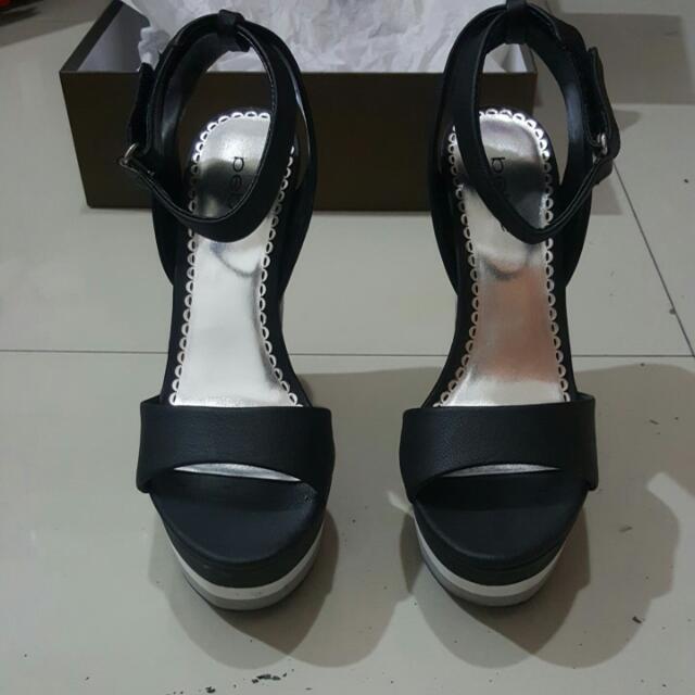 Bebe Stripe Wedges Shoes