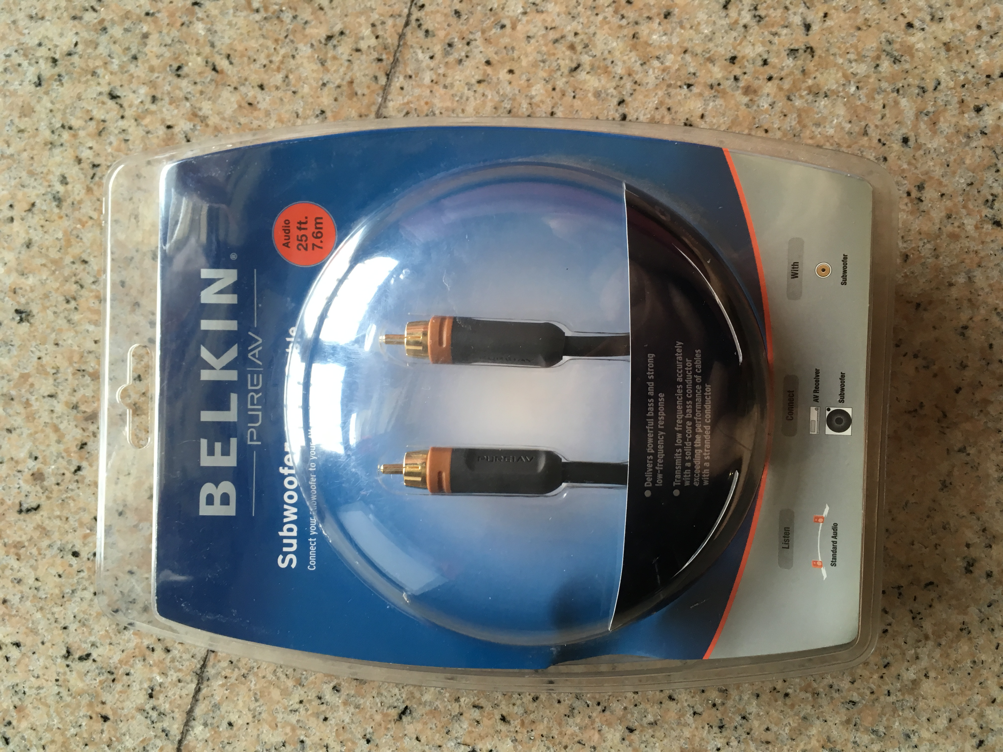 Belkin Subwoofer cable (BNIB), Electronics, Audio on Carousell