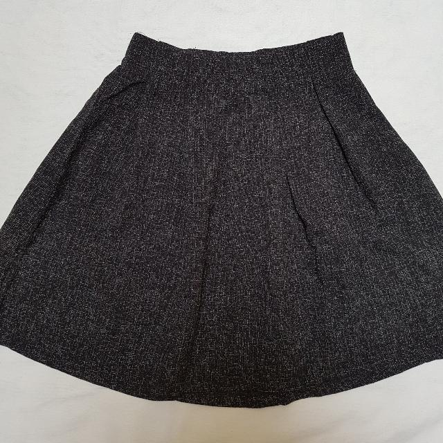 !NEW! Black Flare Skirt