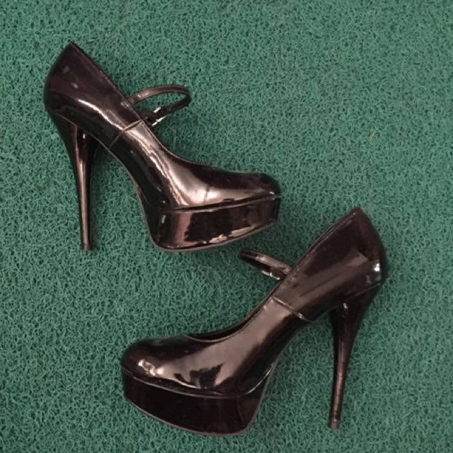 Black Mary Janes By Payless