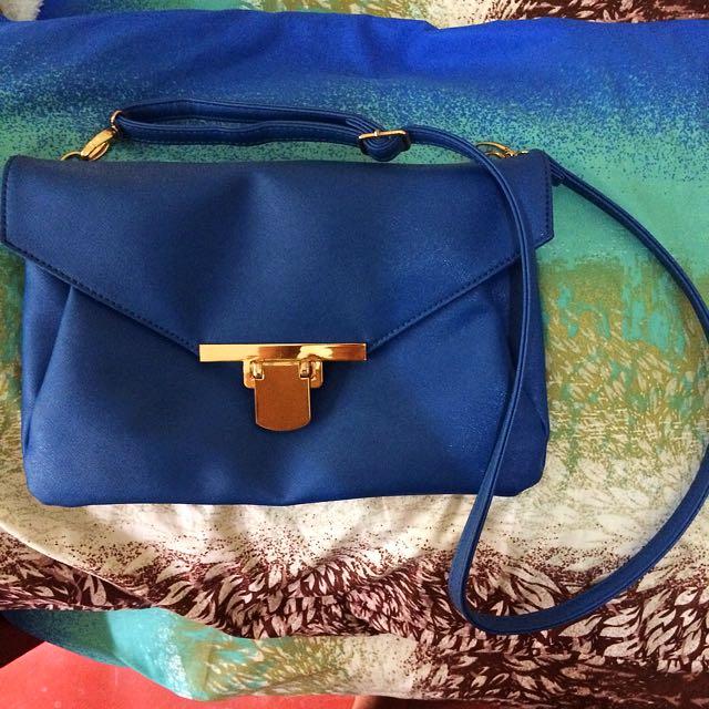 Blue Cross Over Bag