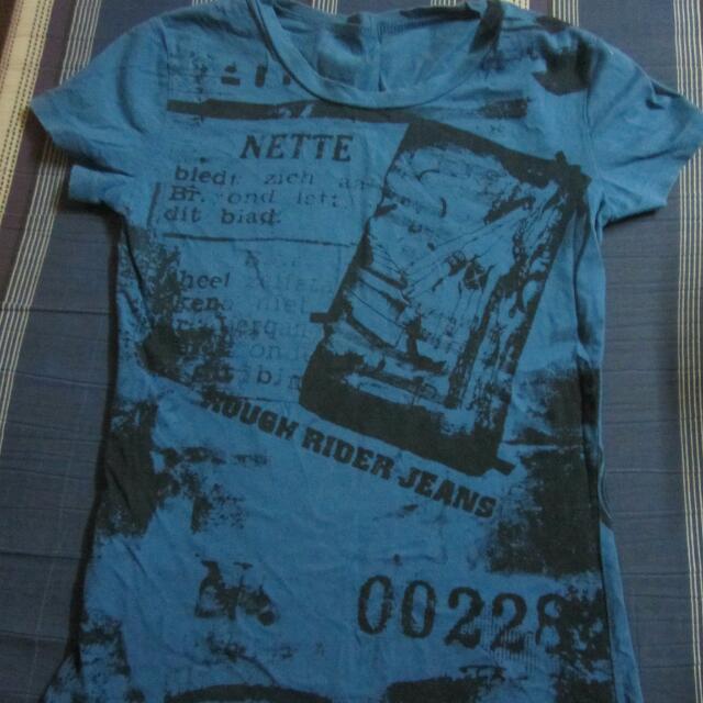Blue printed tshirt