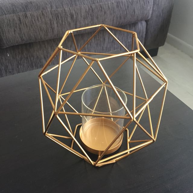 Bronze Wire Candle Holder