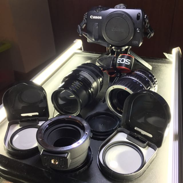 Canon EOS M Super Lightweight Modular Canon EF Macro 50mm f2.5 With Ext Tubes / Close Up Filter / EFM Adapter / USB Bar Lights = $500