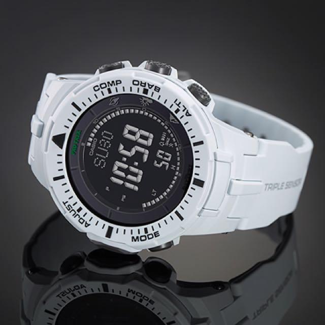 Casio Pro Trek PRG-300-7CR White [Not: G Shock G-shock Apple Watch Smartwatch Fibit Galaxy Gear Samsung Fitness Tracker]