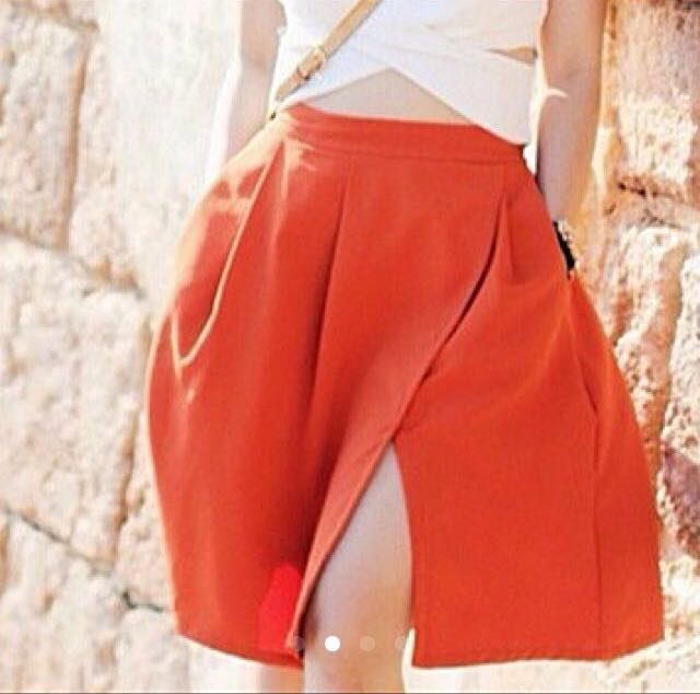 Cloth Inc Orange Skirt