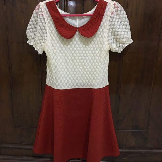 Cute Colar Mini Dress