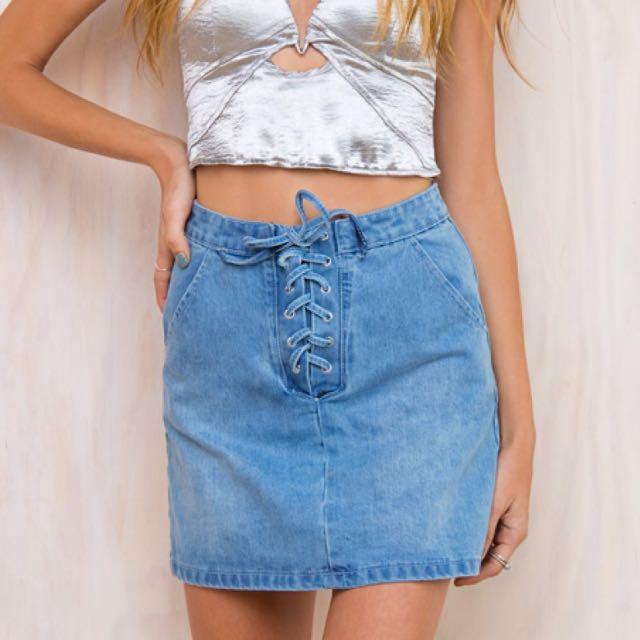 Denim Skirt Size 12 ~ No Swaps ~
