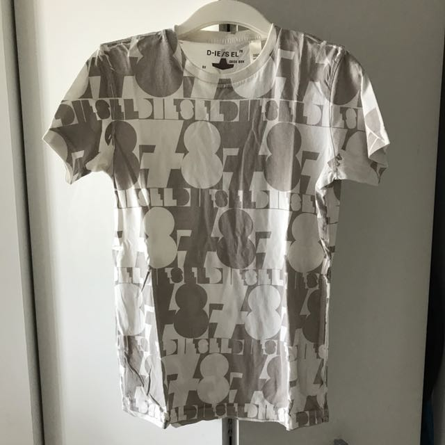 Diesel Printed Round Neck Tee In Small