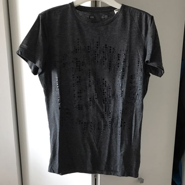 Diesel Round Neck Studded Tee In Small