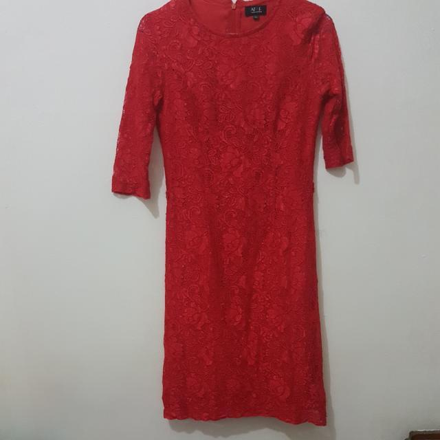 Dress Brokat Red