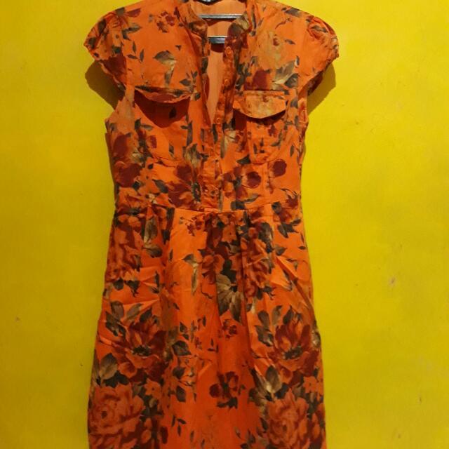 Dress Orange Floral