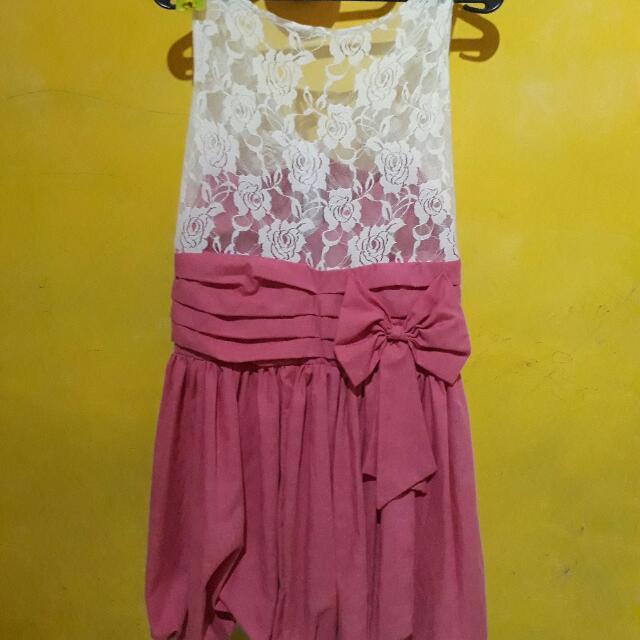 Dress Pink Brukat