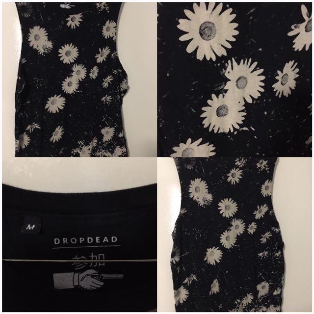 Drop Dead Flowers Tank - Size M