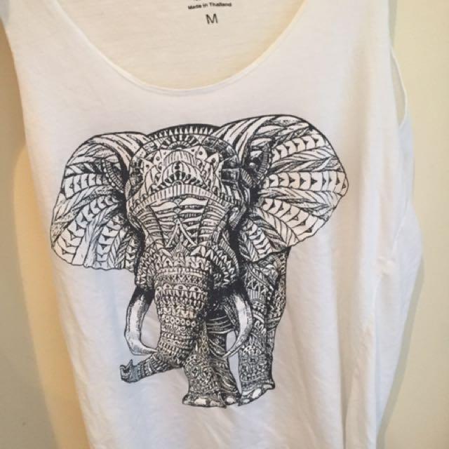 Elephant Singlet Size 10/M