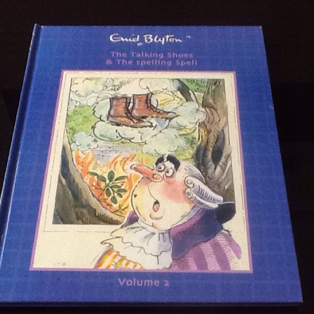 Enid Blyton A4 Size Hardcover Book-The Talking shoes & The Spelling Soelk