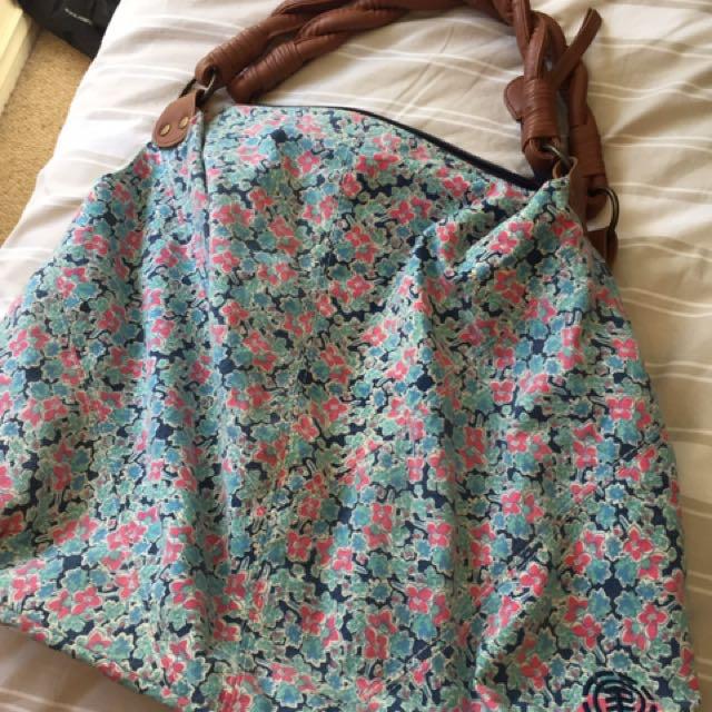 Floral Roxy Beach Bag