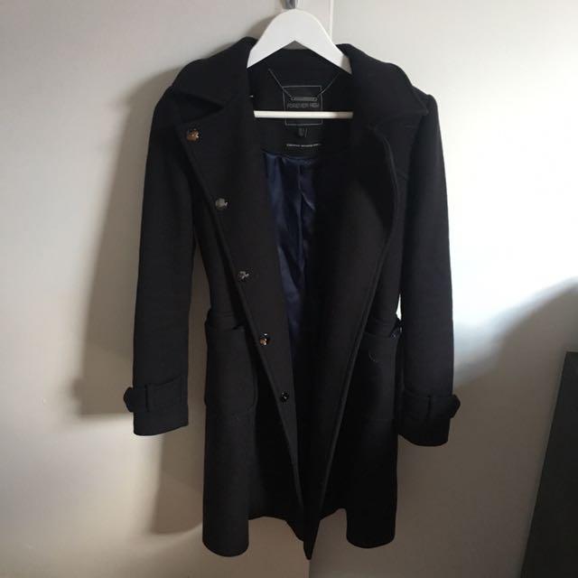 Forever New Coat Navy Size 6