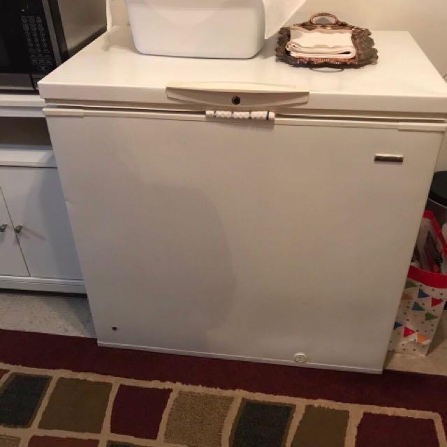 Fridge Microwave And A Tiny Shelf