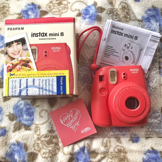 Fujifilm instax mini 8 (Candy Red)