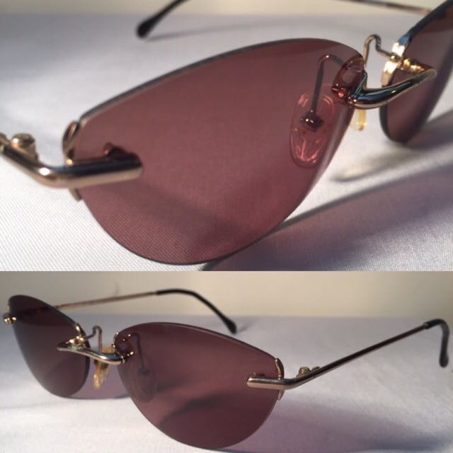 53a794a00a0 Gianfranco FERRE 90s SUNGLASSES CATEYE 58  16 Made in ITALY