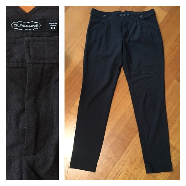 Glassons Dark Grey Office Pants (size 10)