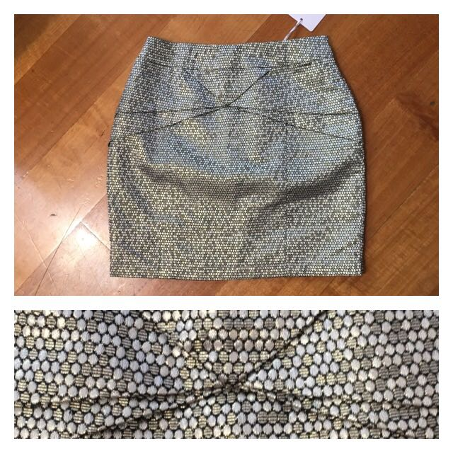Gold Glam Mini Skirt (small)