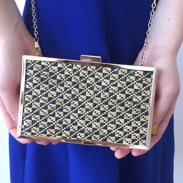 Golden cocktail clutch