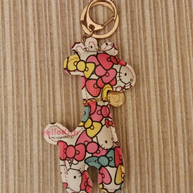 Hello Kitty動物造型鑰匙圈