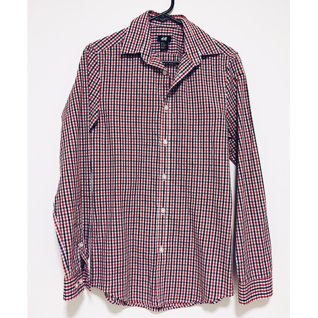 HnM Smart Casual Checkered Shirt Size XS
