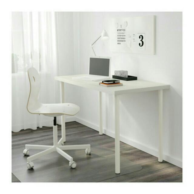 IKEA LINNMON, Meja Putih ,120 X60 X74 Cm