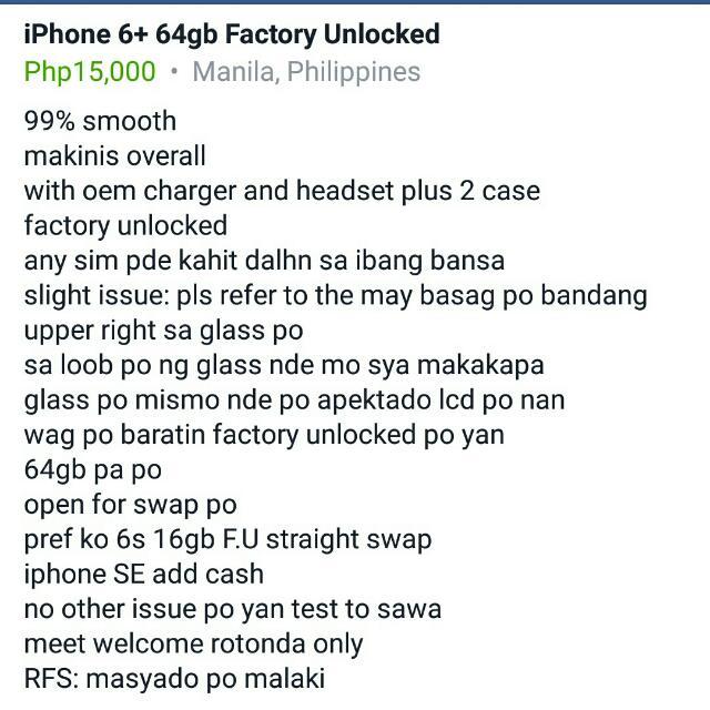 Ipjone 6+ 64gb Factory Unlock
