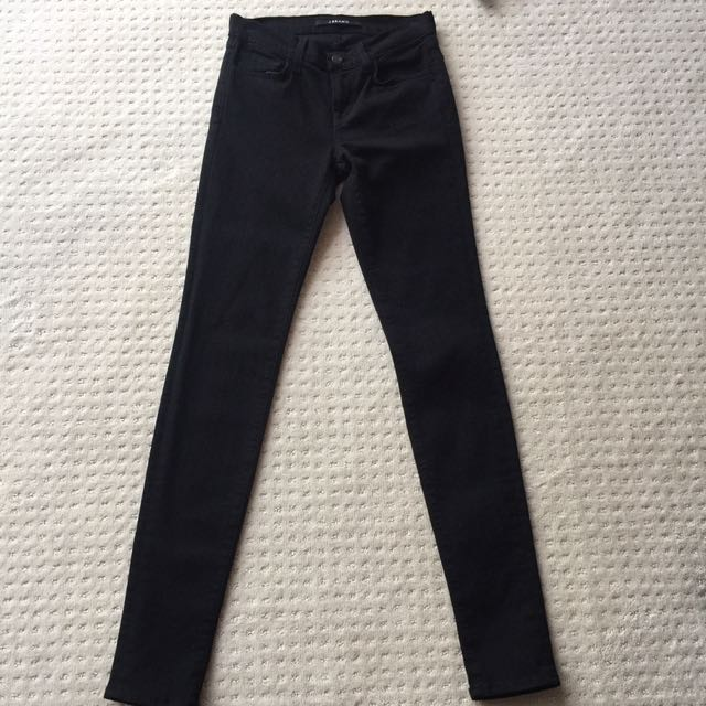 J Brand Black Skinny Jeans Sz 24