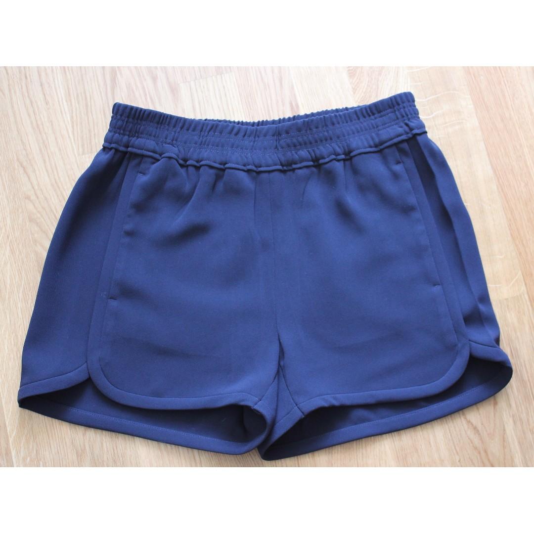 Sz 0 - J Crew Crepe Navy Pull-on Shorts