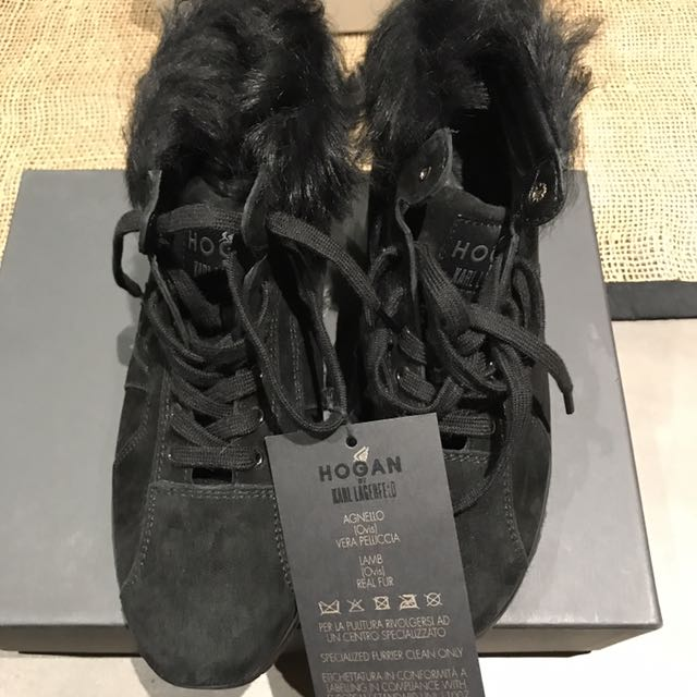 Karl Lagerfeld X Hogan Black Sneakers Size 37