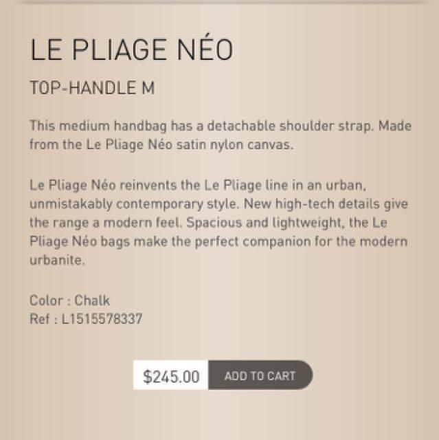 Longchamp Le Pliage Neo Chalk NUDE Color