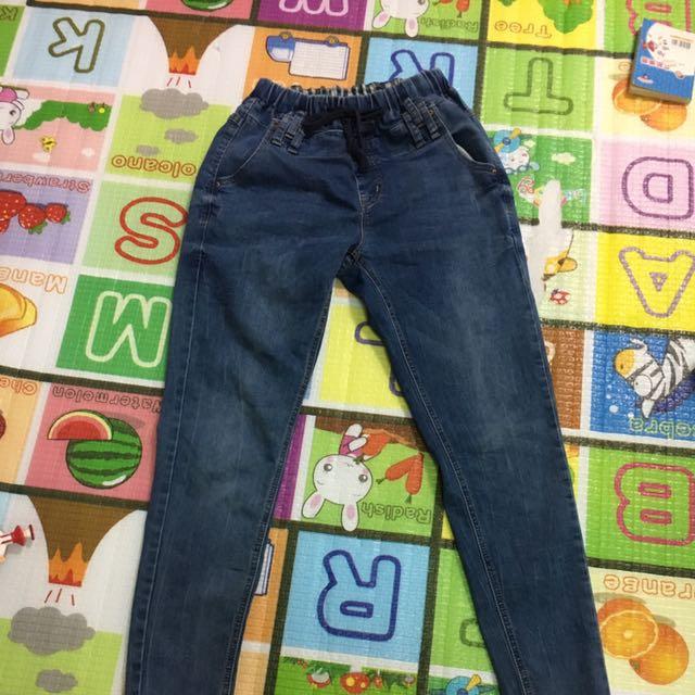 大人刷白牛仔褲彈性大適合m-L