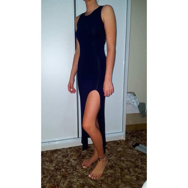 MADEBEN Strap Dress -Navy