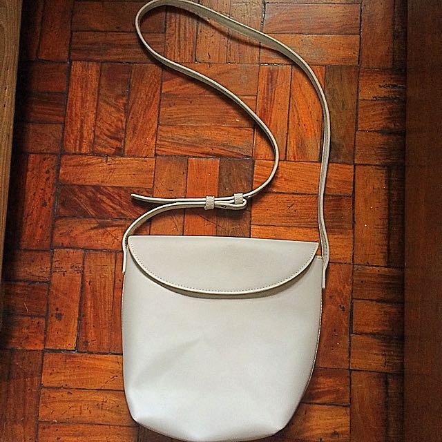 Mango - Leather Shoulder Bag