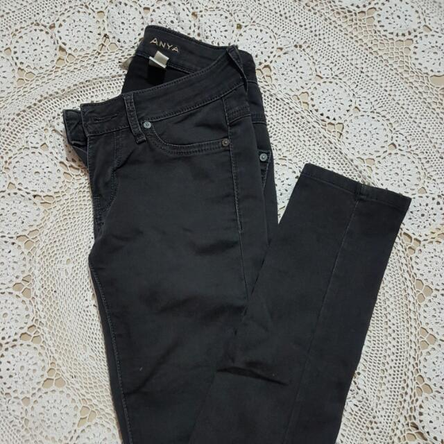 Mango Skinny Jeans (faded black)