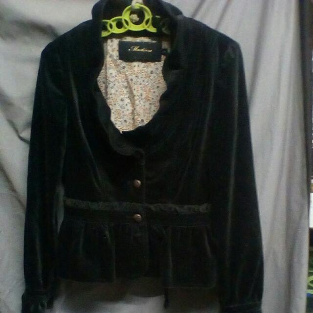 Mastina女裝34碼灰克色絲绒外套一件