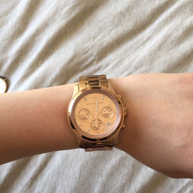 Reduced! Micheal Kors Rose Gold Watch