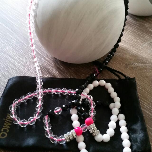 Mimco New No Tag Pink Strand Necklace