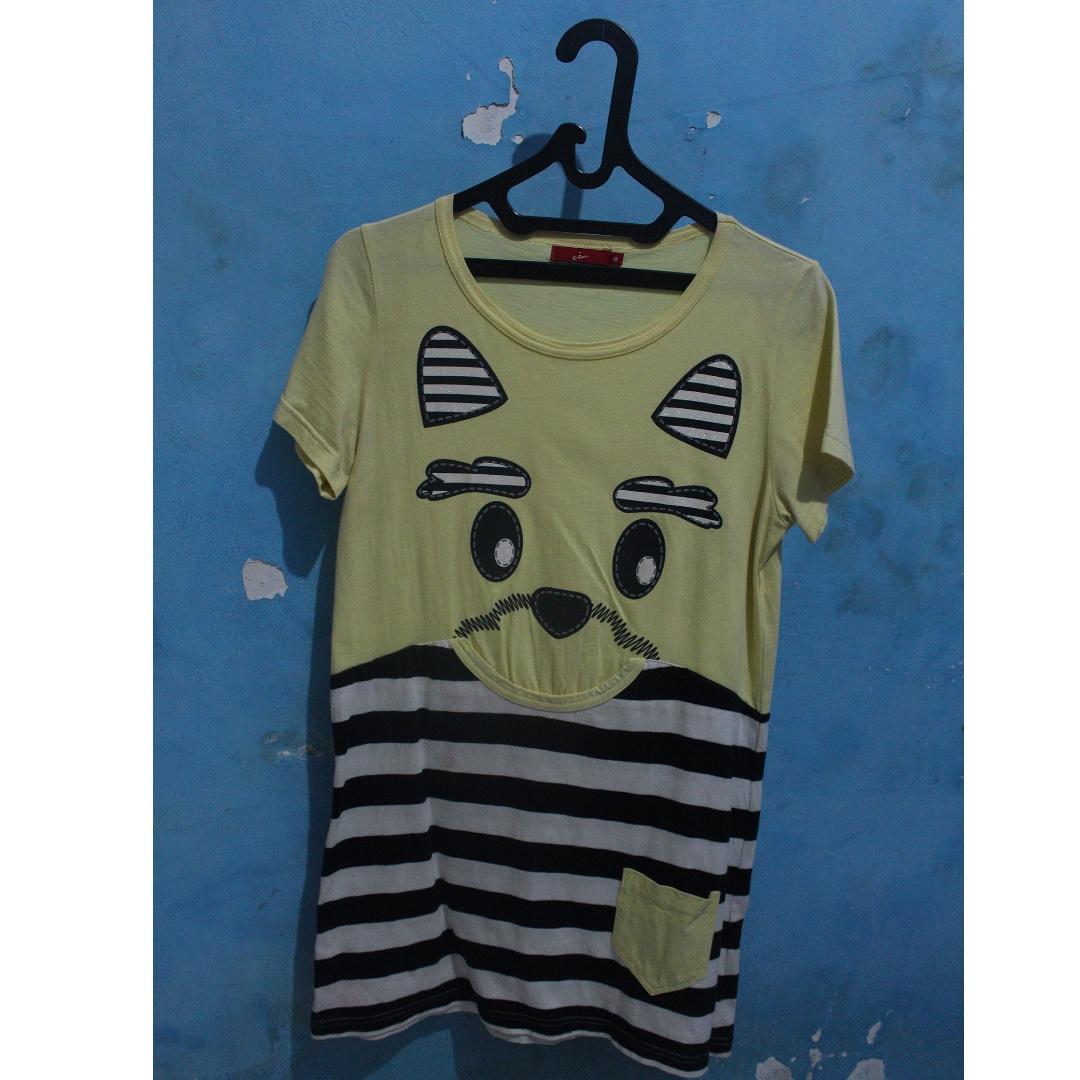 Mini Dress Dog Kuning