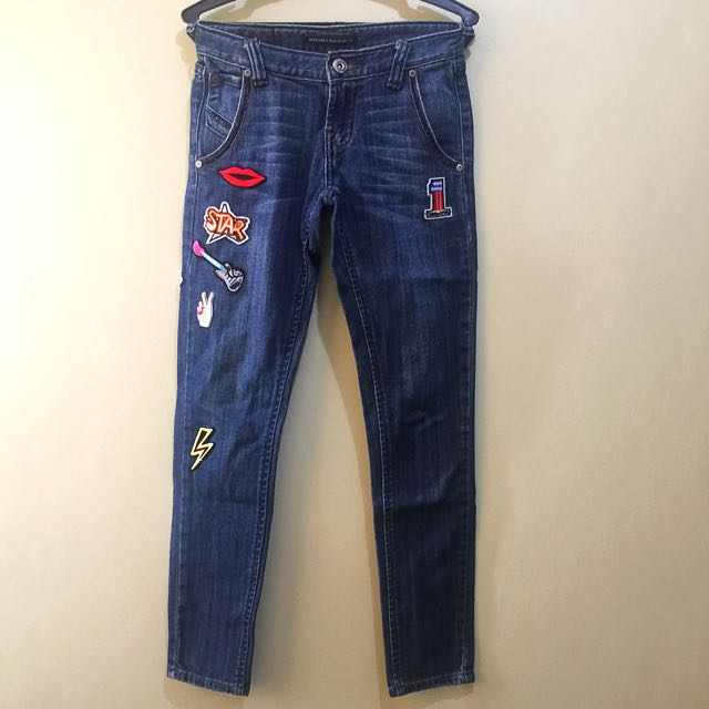 Mossimo Denim Patched Jeans