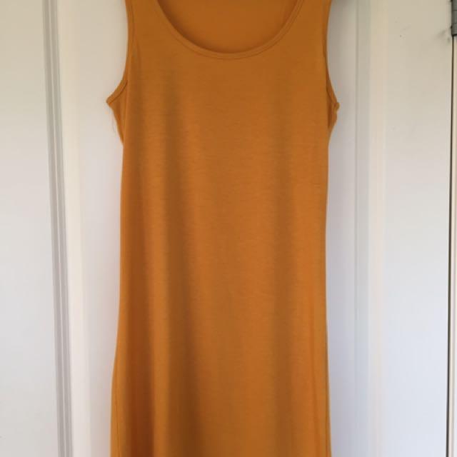 Mustard slip Dress