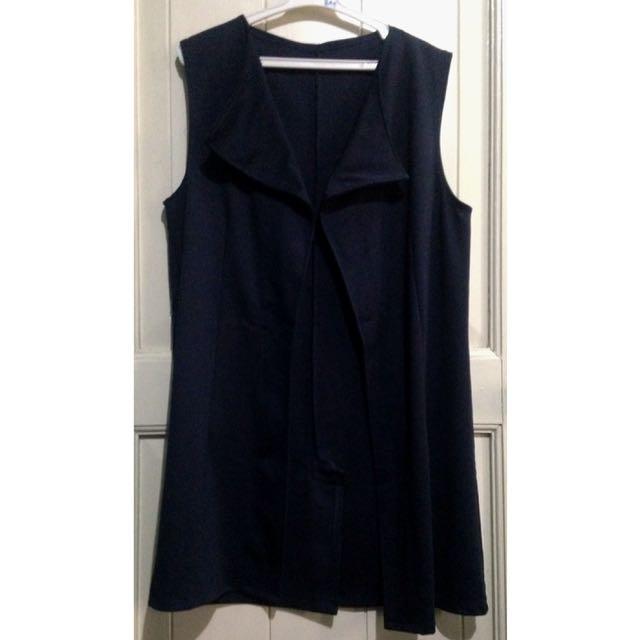 Navy Blue Mid Length Vest