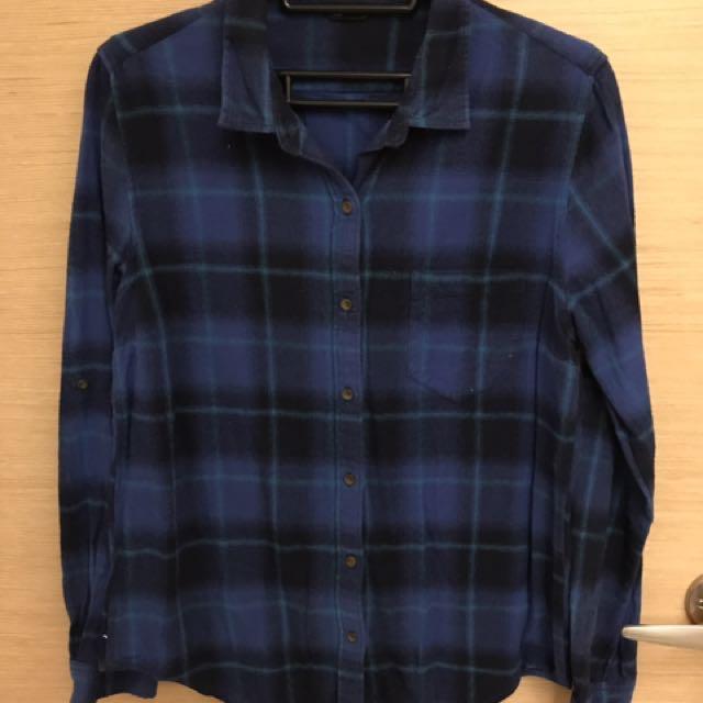 🌻NET藍色格子襯衫