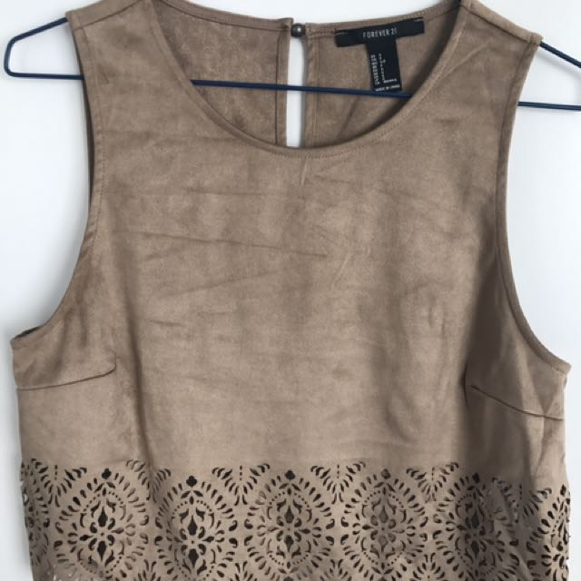 New Forever 21 Suede Top